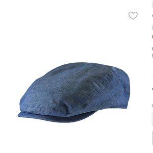NWT London Fog blue flat cap